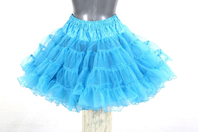 petticoat long turquoise