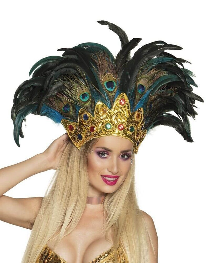 Hoofdtooi peacock queen