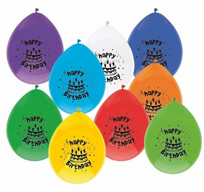 Ballonnen 10 stuks Happy Birthday