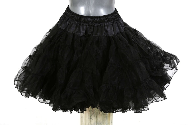 petticoat long zwart