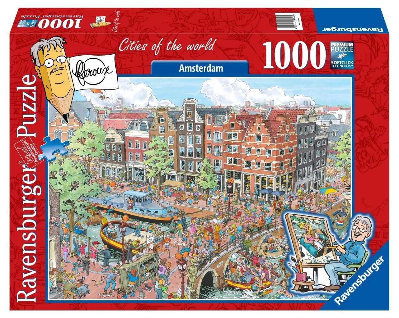 Ravensburger puzzel Fleroux: Amsterdam 1000 stukjes