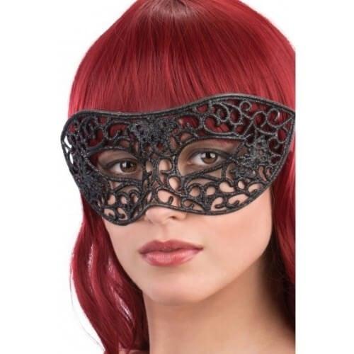 Black mask glitter