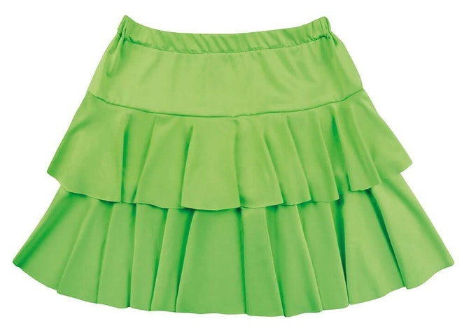 Minirok ruffles groen