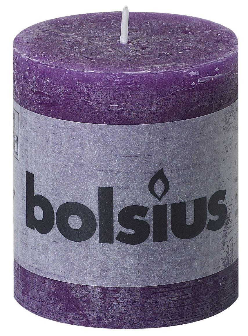 Bolsius Stompkaars rustiek Paars 80-68