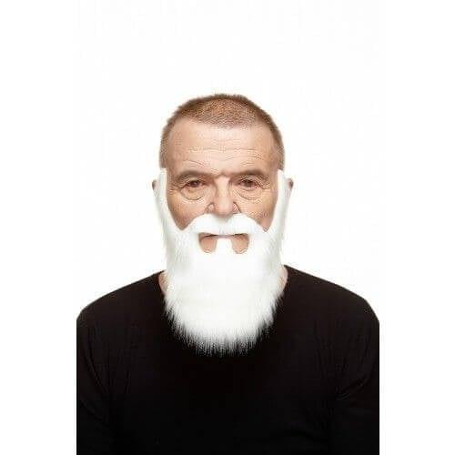 Snor met baard Jamie wit