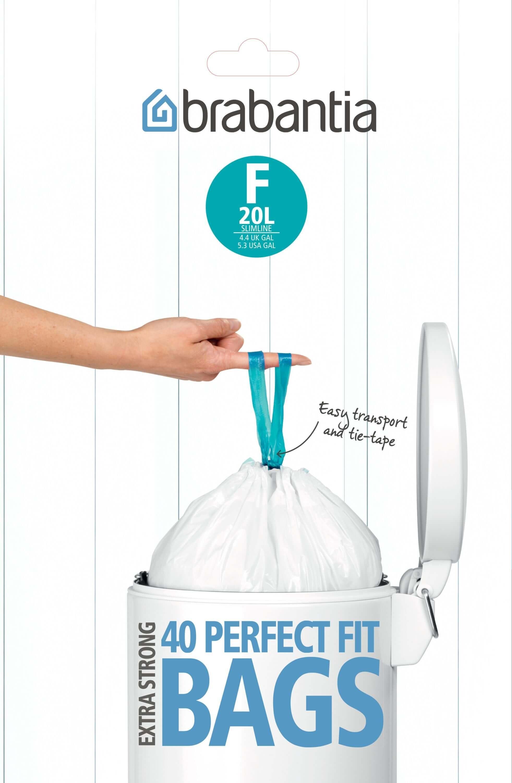 Brabantia Dispenser Pack Afvalzak F 20 Liter (40 stuks)