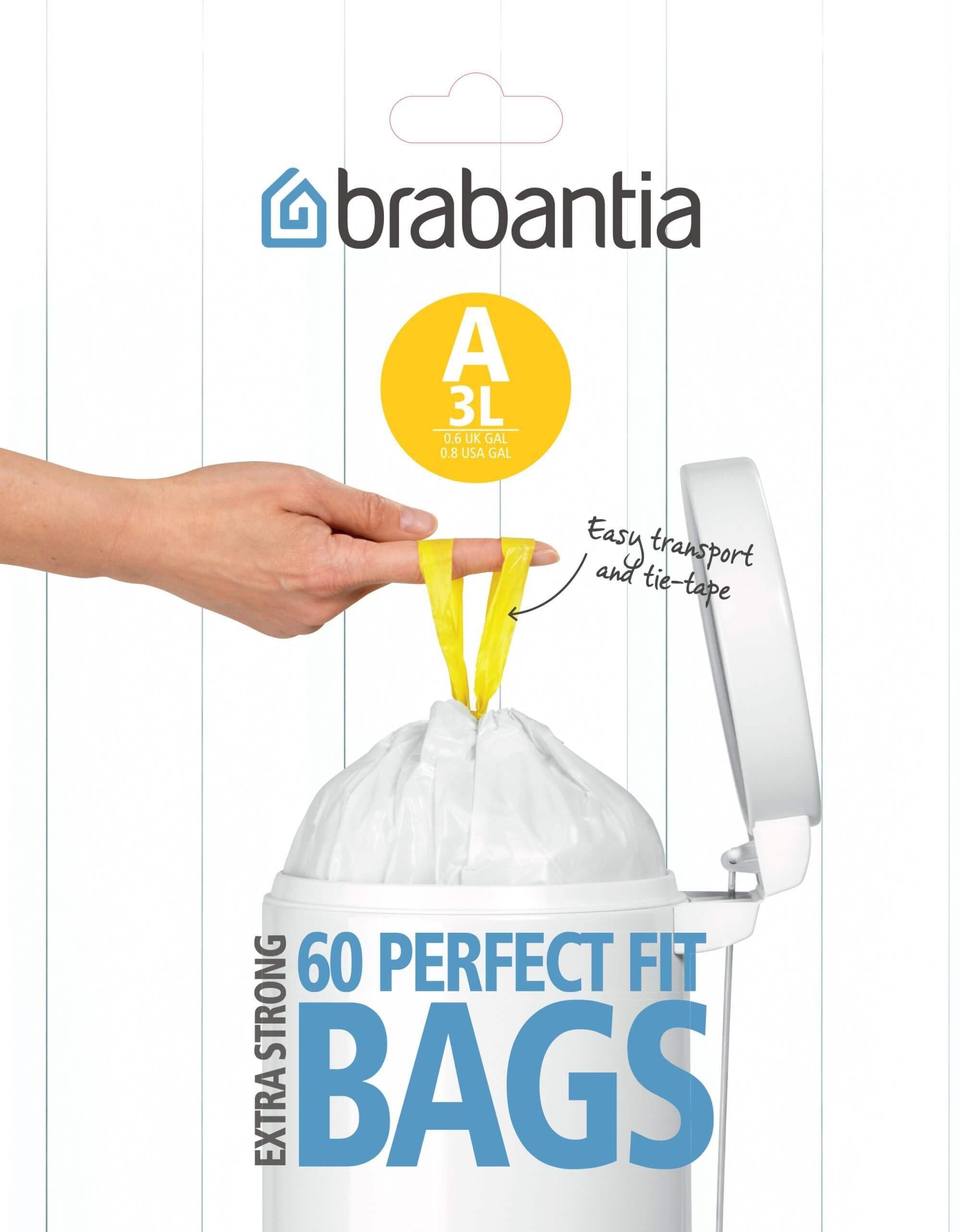 Brabantia Dispenser Pack Afvalzak A 3 Liter (60 stuks)