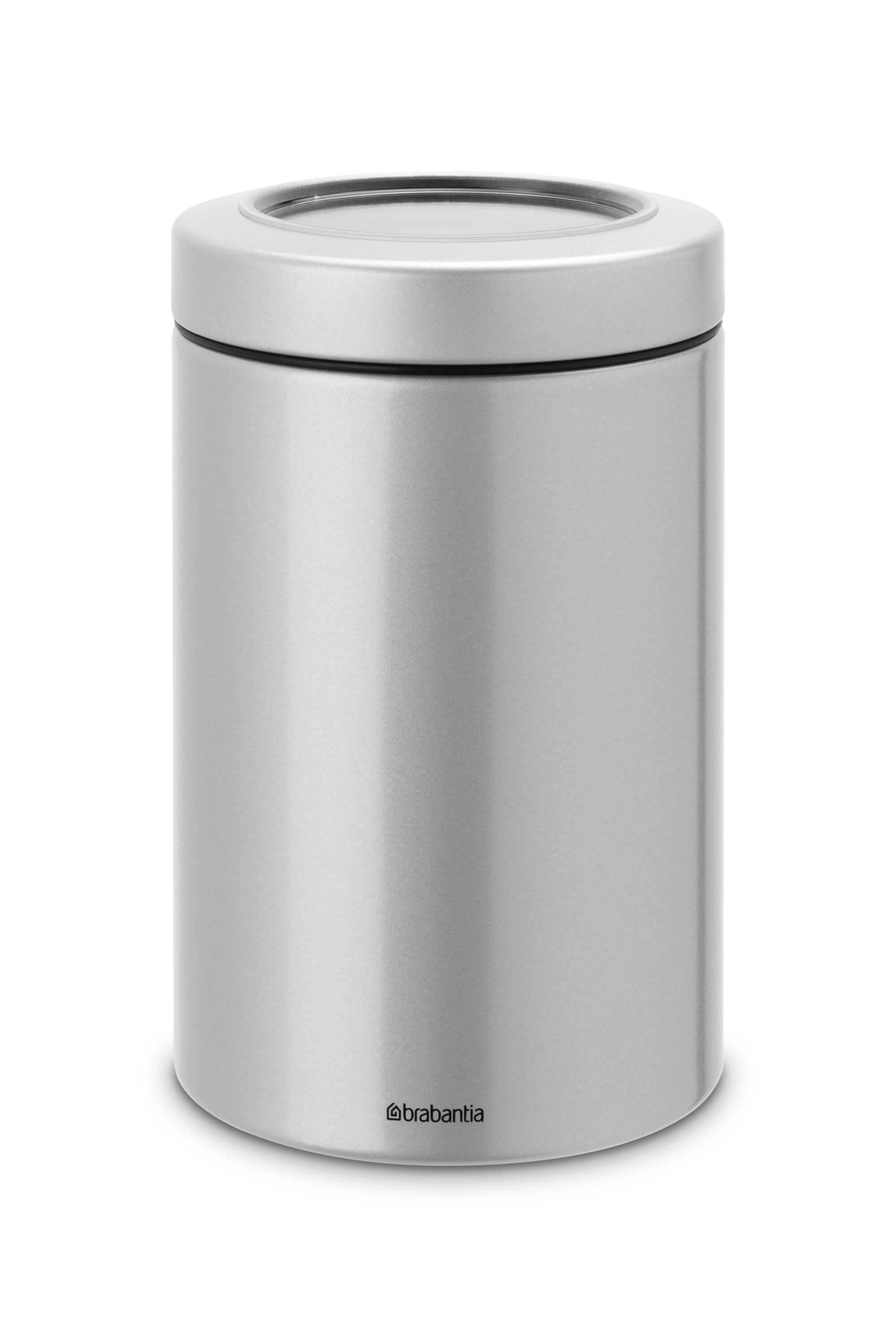 Brabantia Clear Top Voorraadbus 1,4 L Metallic Grey