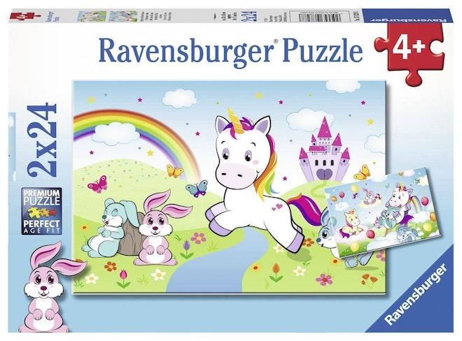 Ravensburger puzzel 2x24 stukjes Sprookjesachtige eenhoorn