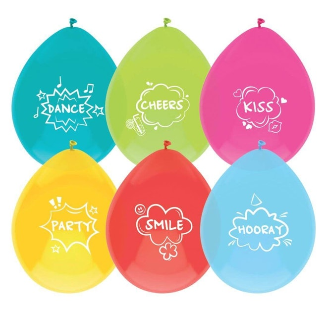 Ballonnen Party quotes 6 stuks