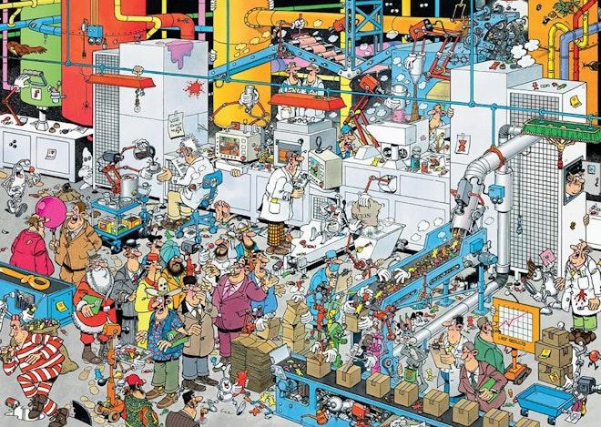 Jumbo puzzel Jan van Haasteren 500 stukjes Snoepfabriek