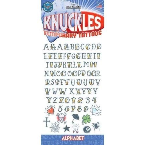 Tattoo set knuckles - alphabet