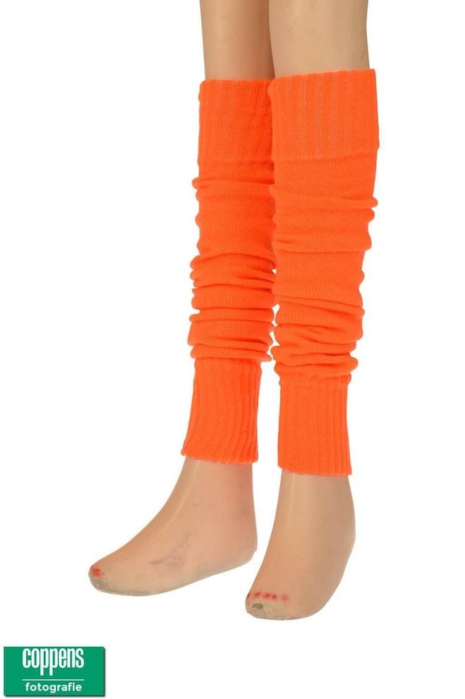 Knee over beenwarmer oranje