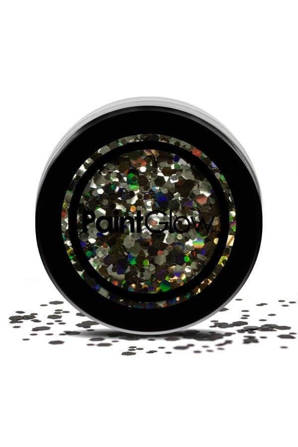 Chunky cosmetic glitters black