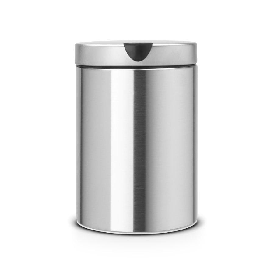 Brabantia New Icon Wandafvalemmer 3 Liter Brilliant Steel