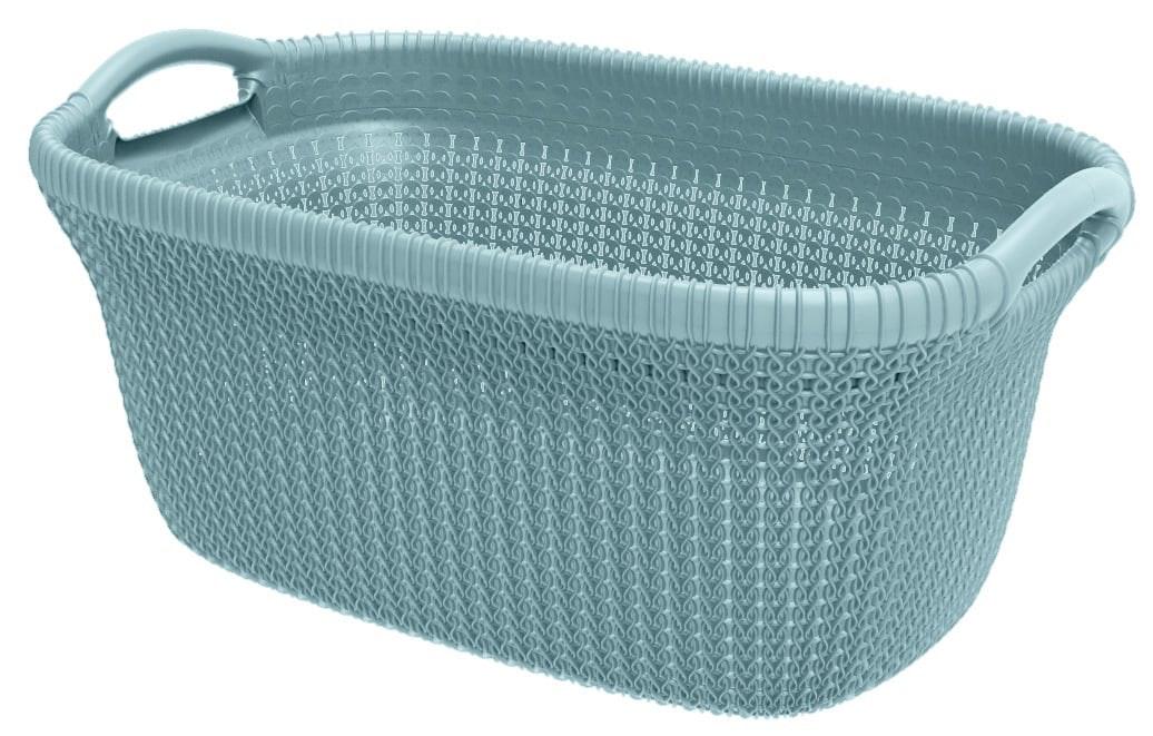 Curver Knit (heup) wasmand misty blue