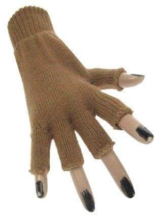 Handschoen vingerloos bruin