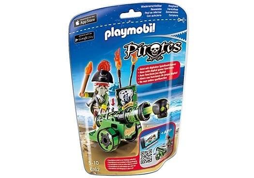 PLAYMOBIL Piratenkapitein met groen kanon 6162