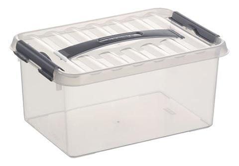 Sunware Q-line Box 6 liter transp/metaal