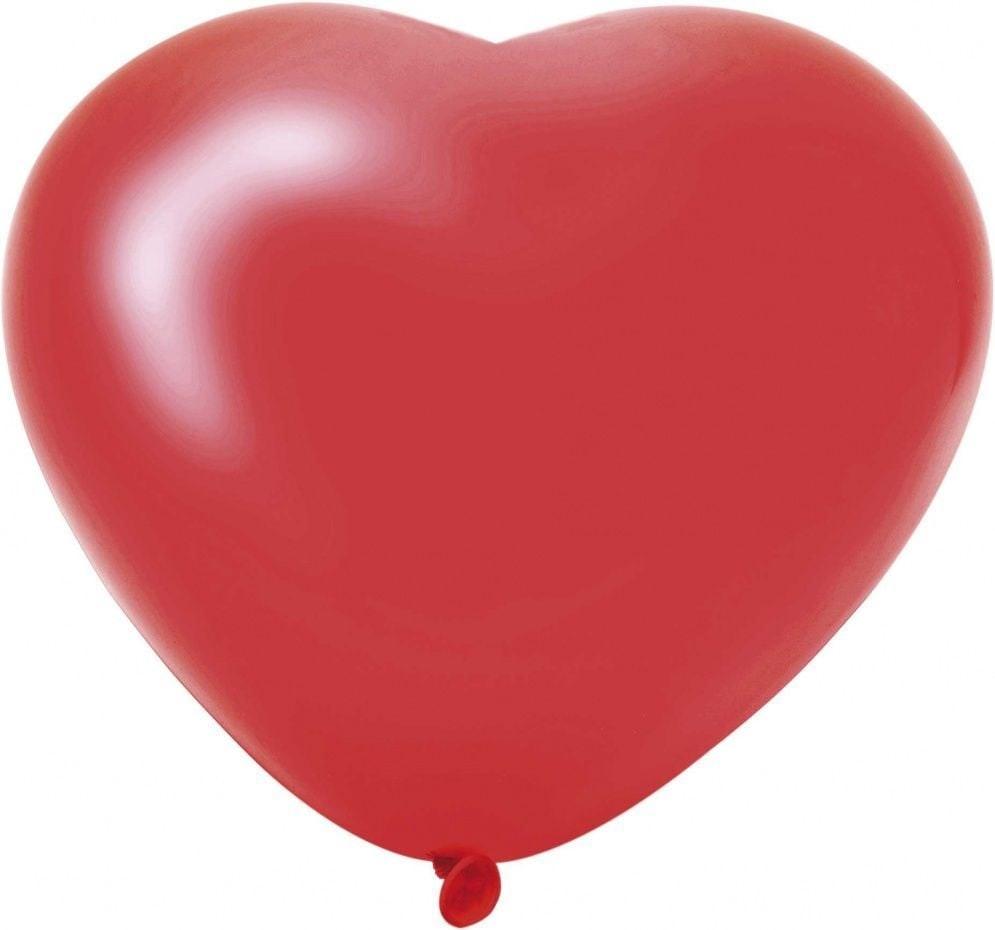 Hartballonnen 6 stuks rood