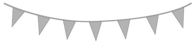 Vlaggenlijn PE 10 meter zilver
