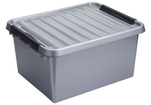 Sunware Q-line opbergbox 36 liter metaal-zwart