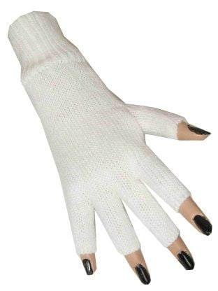 Handschoen vingerloos wit
