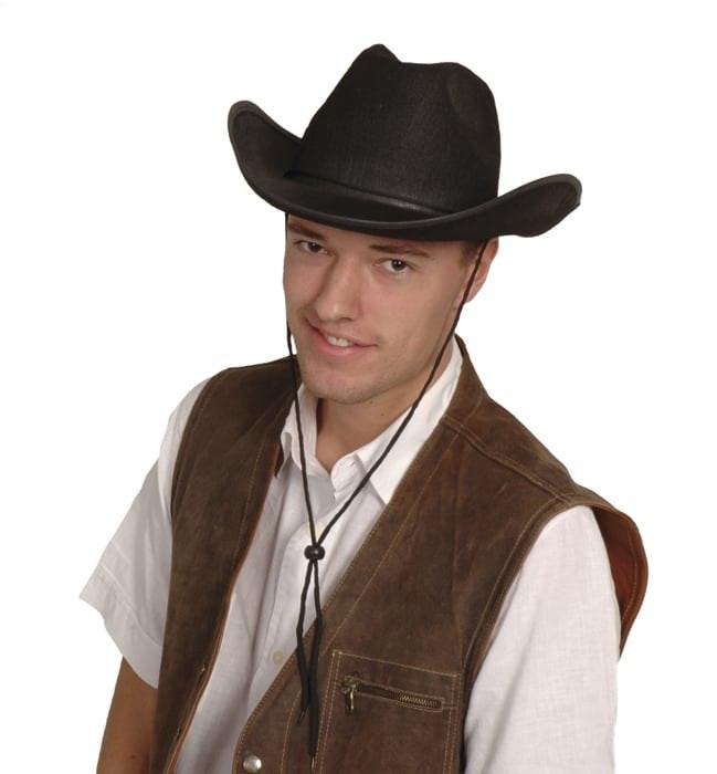 Cowboyhoed Rex vilt zwart
