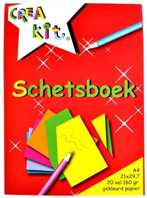 Creakit Schetsboek A4 20/ 160gr gekl Crea