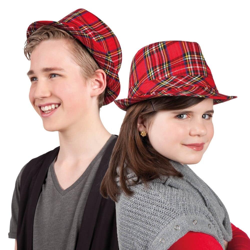 Hat Popstar tartan