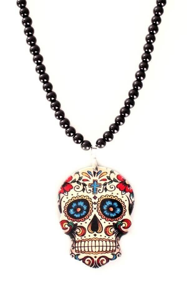 Kralenketting Sugar skull