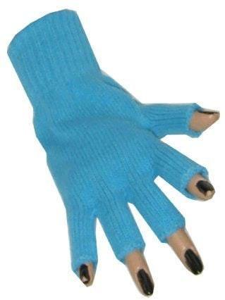 Handschoen vingerloos turquoise