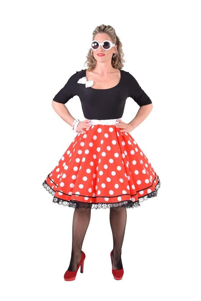 Rock 'n roll jurk zwart/bollen