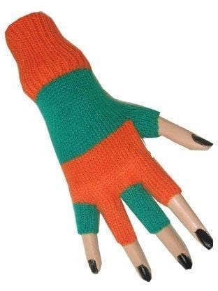 Handschoen oranje-groen