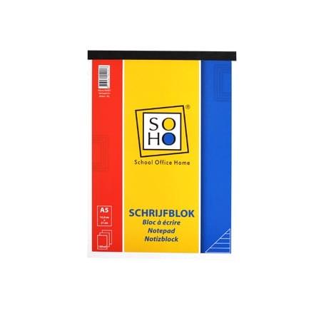 SOHO Schrijfblok A5 lijn SOHO
