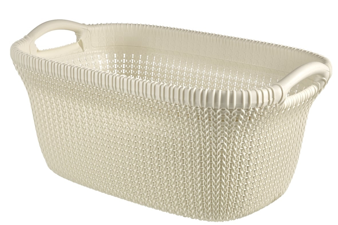 Curver Knit (heup) wasmand oasis white