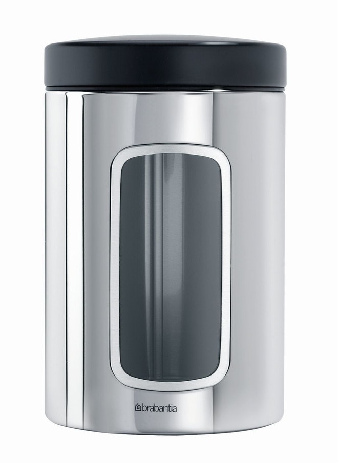 Brabantia vensterbus 1,4 liter Brilliant Steel / Matt Black deksel
