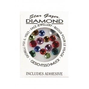 Face diamonds adhesive