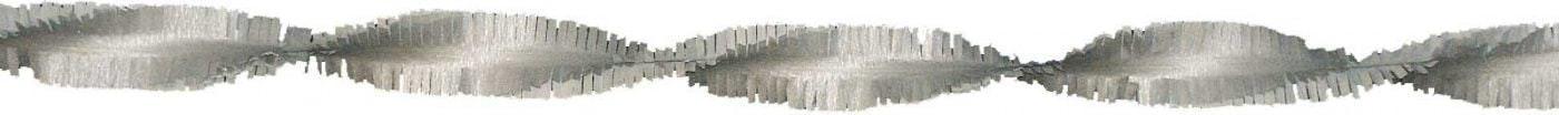 Crepeguirlande zilver 6 meter