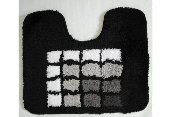 Toiletmat 50 x 60 cm zwart blok