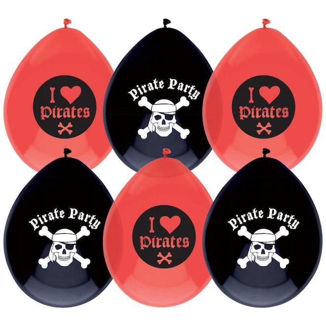 Ballonnen Piraten 6 stuks