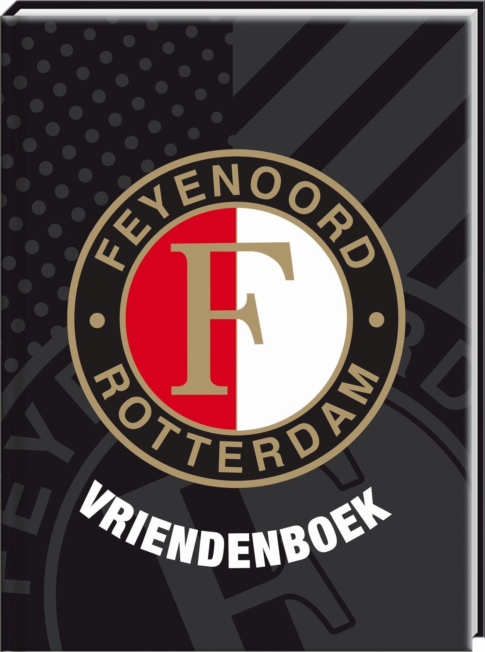 Feyenoord vriendenboekje 19 x 14 cm zwart
