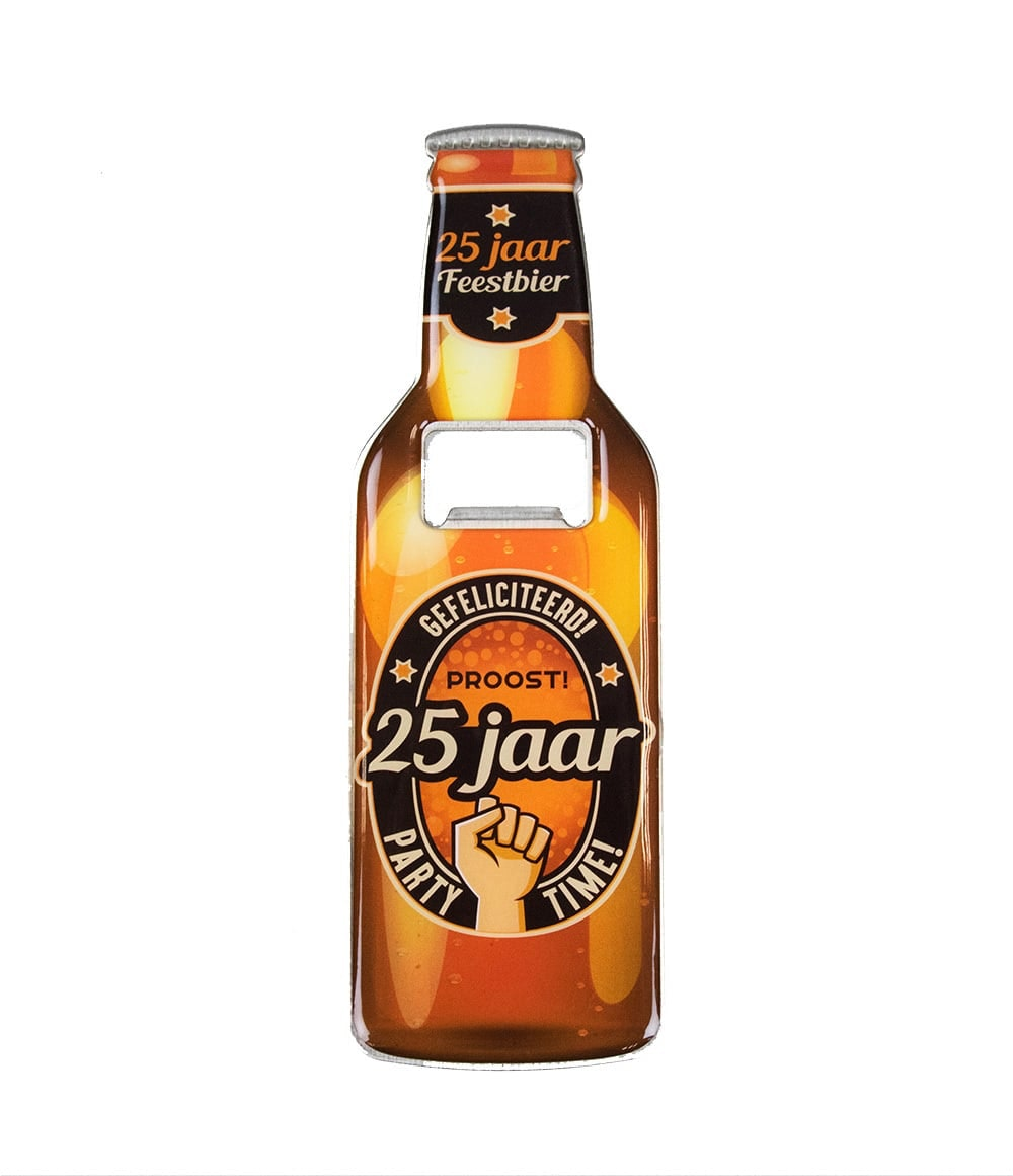 Bieropener 25 jaar