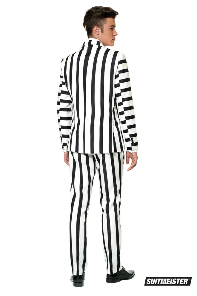 Opposuits Striped Black White
