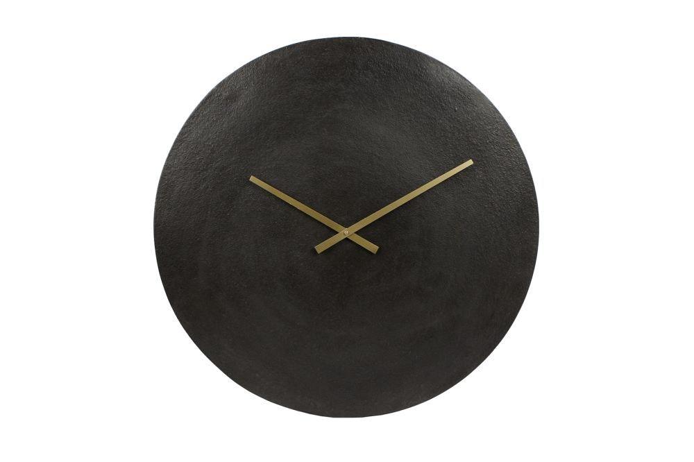 """Van Manen Klok rond """"Moon"""" XL zwart aluminium 55,5x55,5x5cm online kopen"""