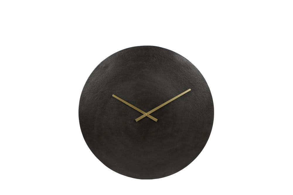 Gifts Amsterdam Wandklok Moon L 38 cm aluminium zwart online kopen