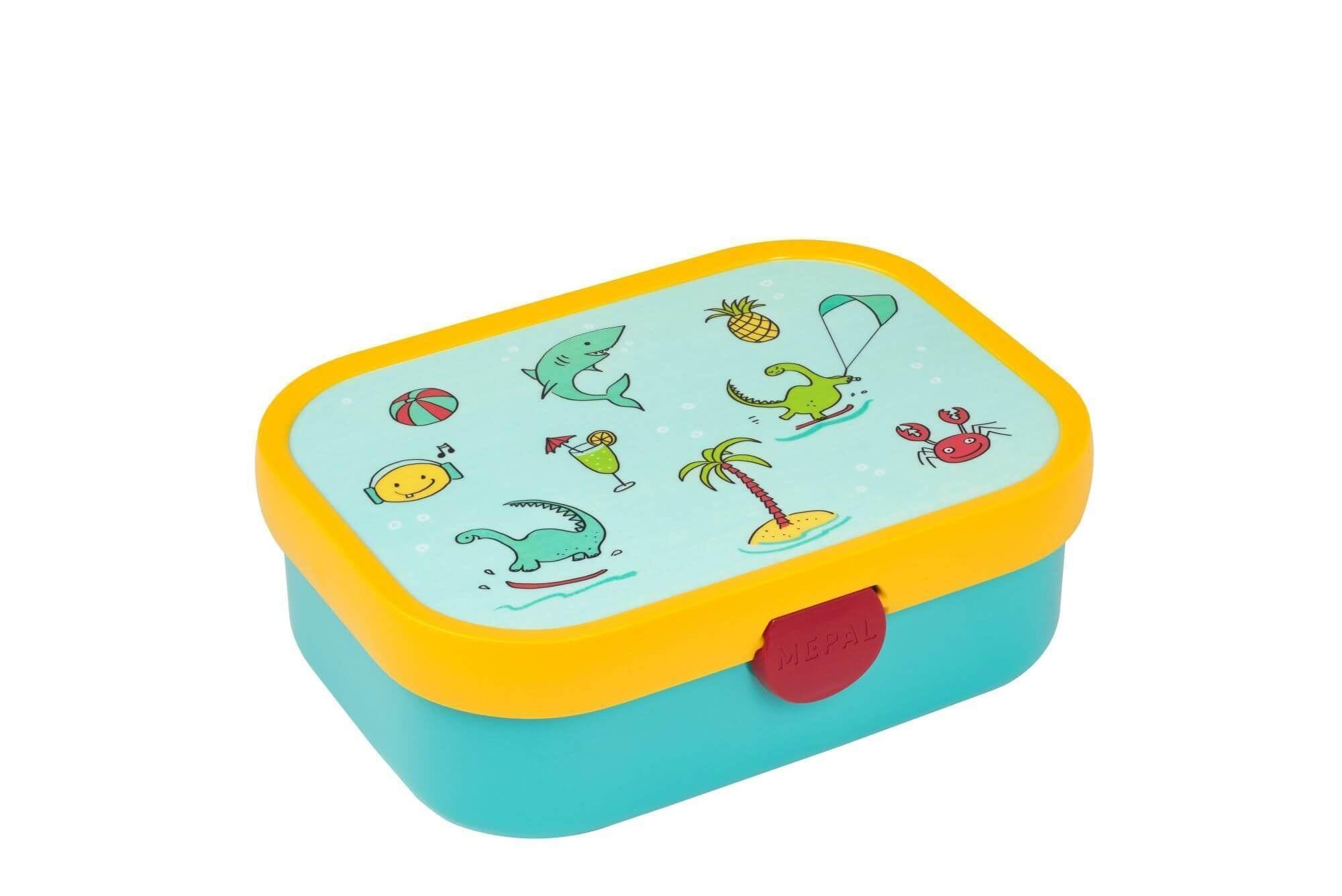 Rosti Mepal broodtrommel Doodle 176 x 130 x 60 mm groen-geel