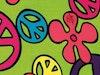 Sjaal / shawl satijn magic peace - Product thumbnail