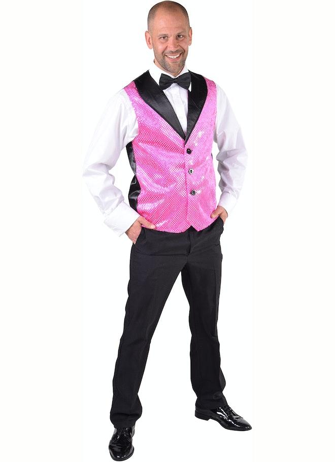 Gilet pailletten pink 1160 1600