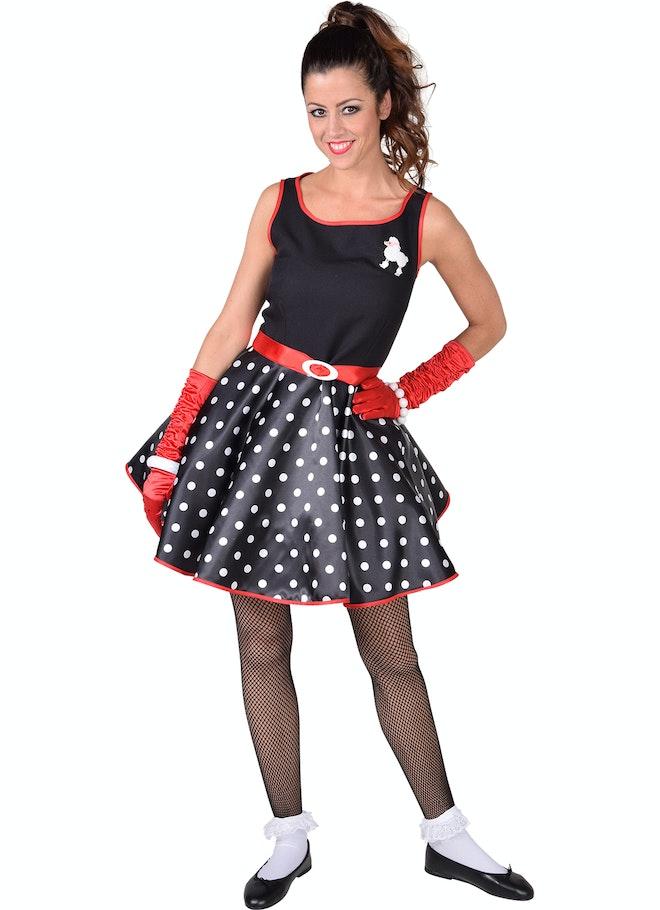 Rock roll jurk zwart 1160 1600